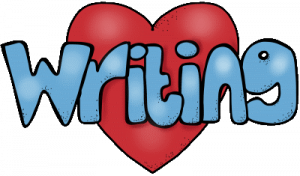 The word writing inside a red heart